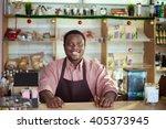 portrait of a smiling salesman... | Shutterstock . vector #405373945