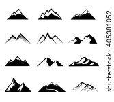 mountains vector. nature or... | Shutterstock .eps vector #405381052