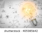 light bulb with drawing graph | Shutterstock . vector #405385642