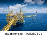 oil and gas central processing... | Shutterstock . vector #405387526