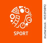 logo for children's sports... | Shutterstock . vector #405393892