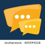 graphic of chat design  vector... | Shutterstock .eps vector #405394318