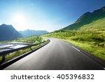 road by the sea  lofoten island ... | Shutterstock . vector #405396832