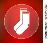 socks icon. internet button on... | Shutterstock . vector #405398902
