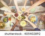 food table healthy delicious... | Shutterstock . vector #405402892