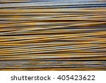 rusty reinforcement bars | Shutterstock . vector #405423622