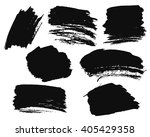 black ink spots isolated on... | Shutterstock .eps vector #405429358