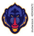 Mandrill Monkey Head Mascot