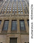 Small photo of NEW YORK, USA - MAY 5, 2015: American Stock Exchange Building in Lower Manhattan, New York City, USA. It is the headquarter of Stock Exchange of America