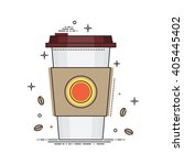 disposable coffee cup icon with ... | Shutterstock .eps vector #405445402