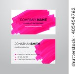 twosided business card template.... | Shutterstock .eps vector #405454762