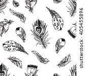 hand drawn vector painted... | Shutterstock .eps vector #405455896