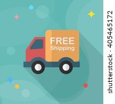van and shipping icon  vector...   Shutterstock .eps vector #405465172