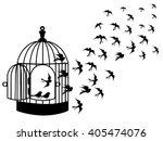 Vector Silhouettes   A Flock O...