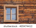 natural wooden window on wooden ... | Shutterstock . vector #405474412