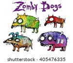 Zombie Dogs Set. Funny...