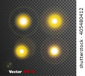 vector realistic 3d sun light... | Shutterstock .eps vector #405480412