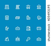 travel web icons set   Shutterstock .eps vector #405493195