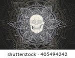 vector design pattern. hand... | Shutterstock .eps vector #405494242