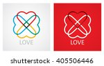 love concept with abstract... | Shutterstock .eps vector #405506446