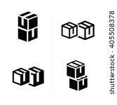 vectors box interlace icons set | Shutterstock .eps vector #405508378