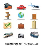 travel icons   Shutterstock .eps vector #40550860