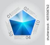 blue pentagon infographics....   Shutterstock .eps vector #405508762