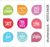 sale price tag modern design... | Shutterstock .eps vector #405515608