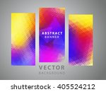set of modern geometric vector... | Shutterstock .eps vector #405524212
