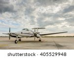 propeller plane parking at the... | Shutterstock . vector #405529948