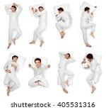 beautiful young man sleep pose... | Shutterstock . vector #405531316
