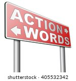 action words the time to act is ... | Shutterstock . vector #405532342