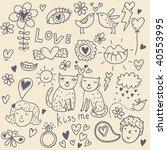romantic vector set | Shutterstock .eps vector #40553995