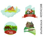 set label organic food. eco and ... | Shutterstock .eps vector #405542188