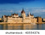 Budapest, the Parliament building - stock photo