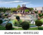 3d rendering and design  ... | Shutterstock . vector #405551182
