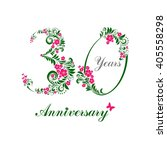 30 years anniversary. happy... | Shutterstock . vector #405558298