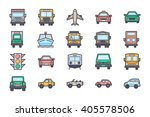transport illustration icons 4 | Shutterstock .eps vector #405578506