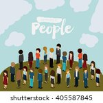 isometric people design  | Shutterstock .eps vector #405587845