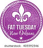 fat tuesday mardi gras stamp | Shutterstock .eps vector #405592546