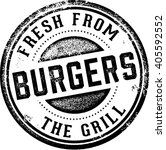 burgers fresh from the grill | Shutterstock .eps vector #405592552
