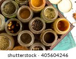 close photo of different spices ...   Shutterstock . vector #405604246