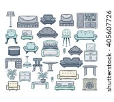 furniture icon set.vector icon... | Shutterstock .eps vector #405607726