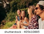 portrait of cheerful young... | Shutterstock . vector #405610885
