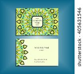 oriental business card mock up... | Shutterstock .eps vector #405631546