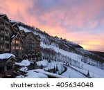 a sun setting on a beautiful...   Shutterstock . vector #405634048