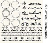 set of vector decorative... | Shutterstock .eps vector #405634672
