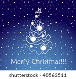 christmas card. vector | Shutterstock .eps vector #40563511