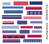 nautical washi tape clipart | Shutterstock .eps vector #405644716
