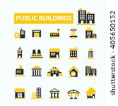 buildings icons  | Shutterstock .eps vector #405650152